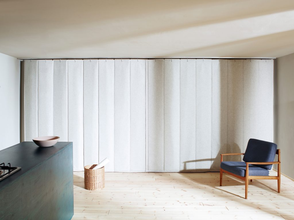 Wärmedämmvorhang, Dämmmaterial, Textile Architektur