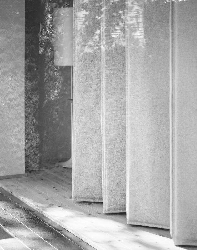 Wärmedämmvorhang, Textile Architektur, Raumteiler