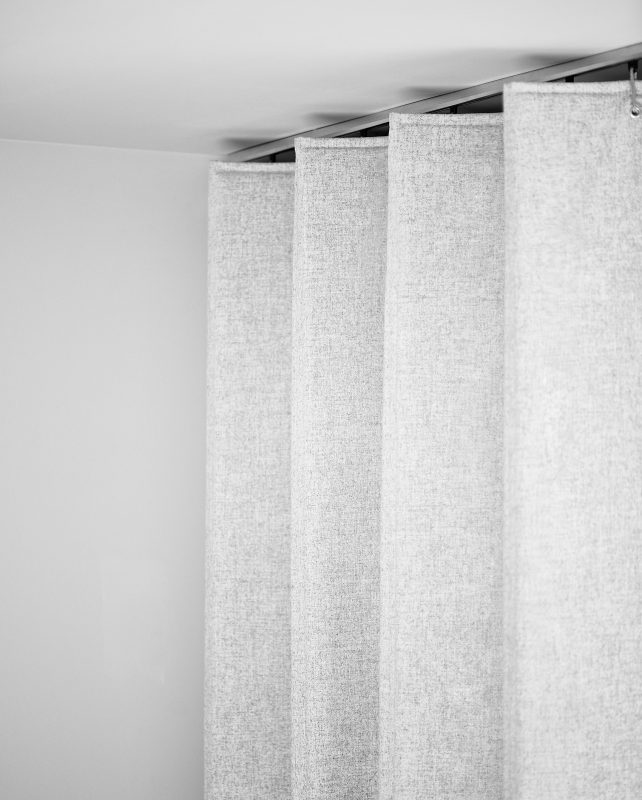 Wärmedämmvorhang, Raumteiler, Textile Architektur
