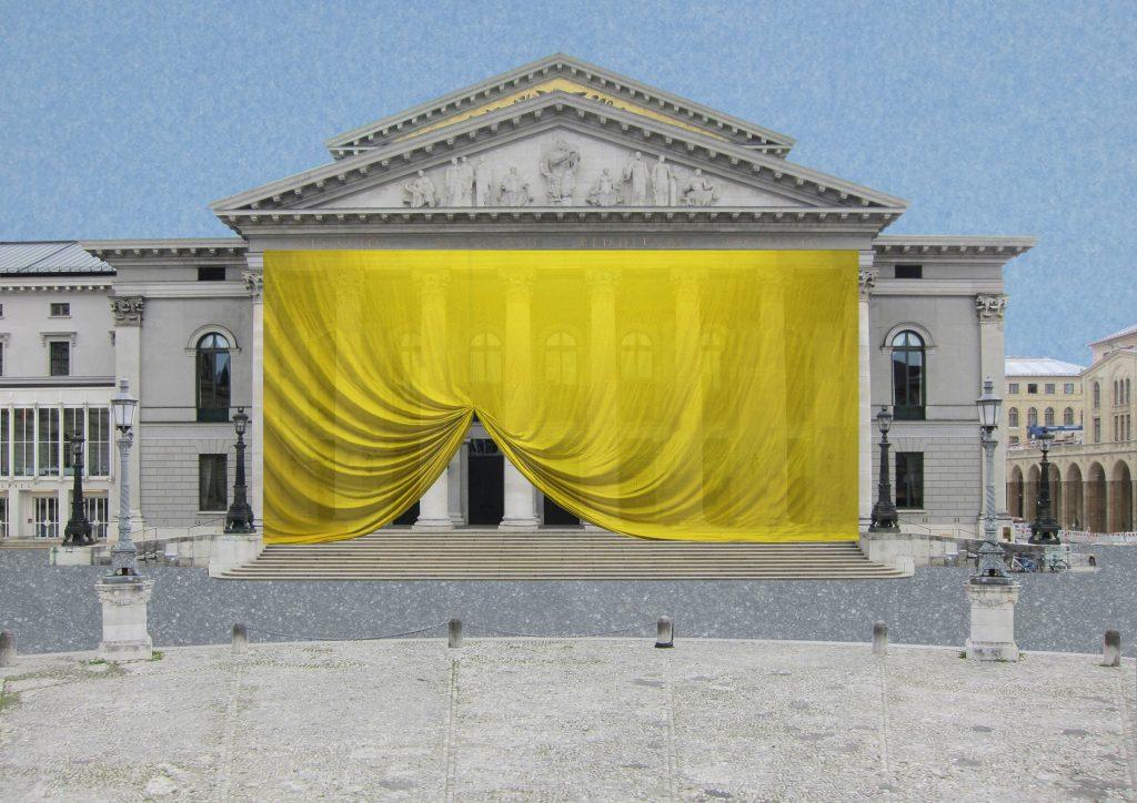 Vorhang, Textile Intervention, Textile Konstruktion