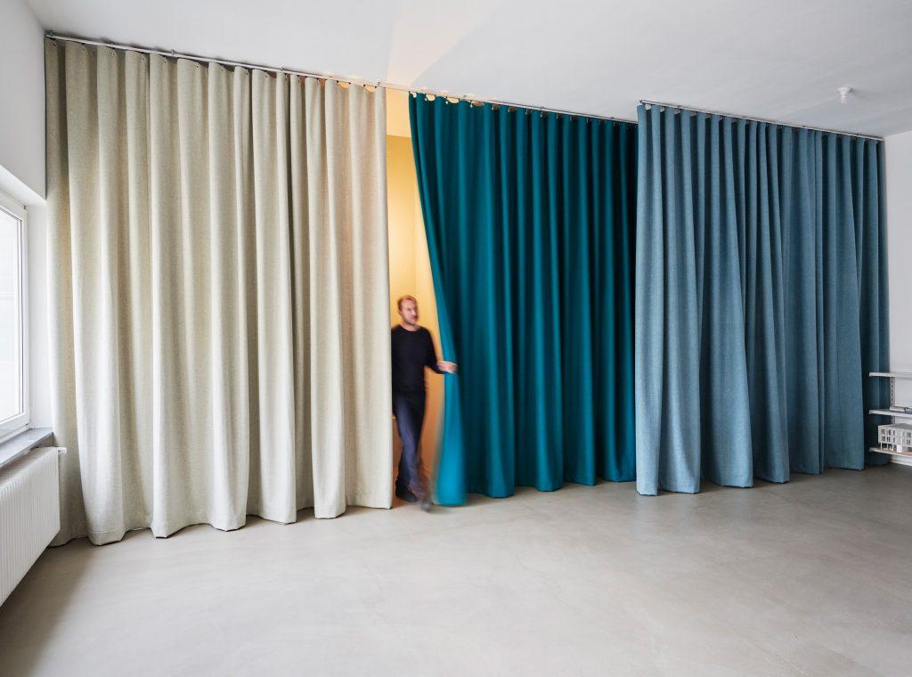 Bürovorhang, Vorhang, Raumteilung, Akustik