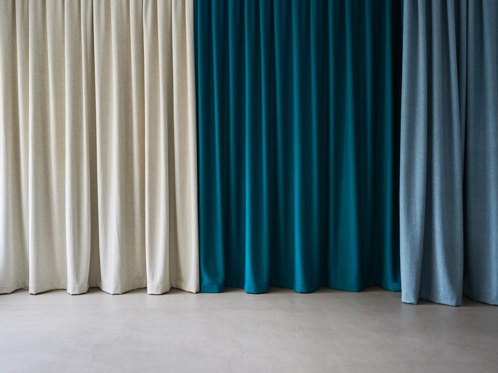 Vorhang, Akustik, Raumteilung
